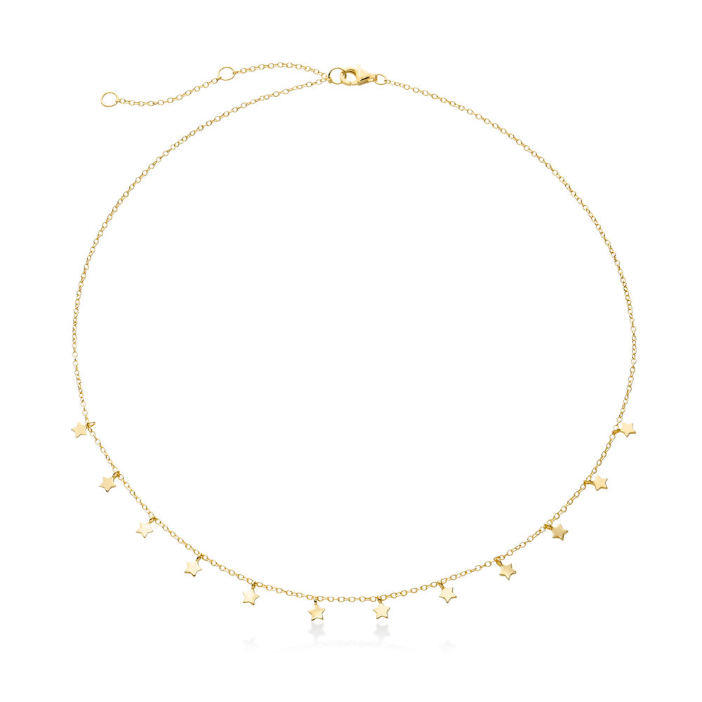 Star Choker Necklace in Gold Plating - 1