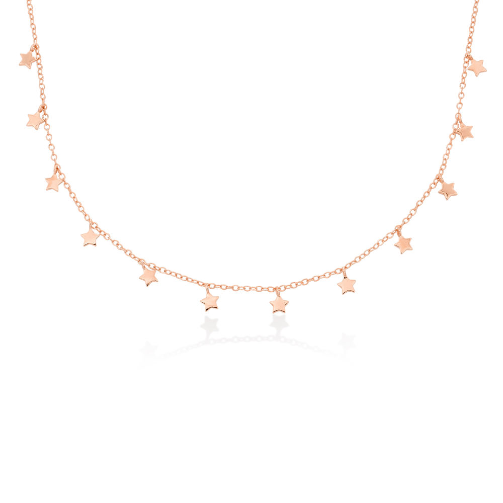 Star Choker Necklace in Rose Gold Plating