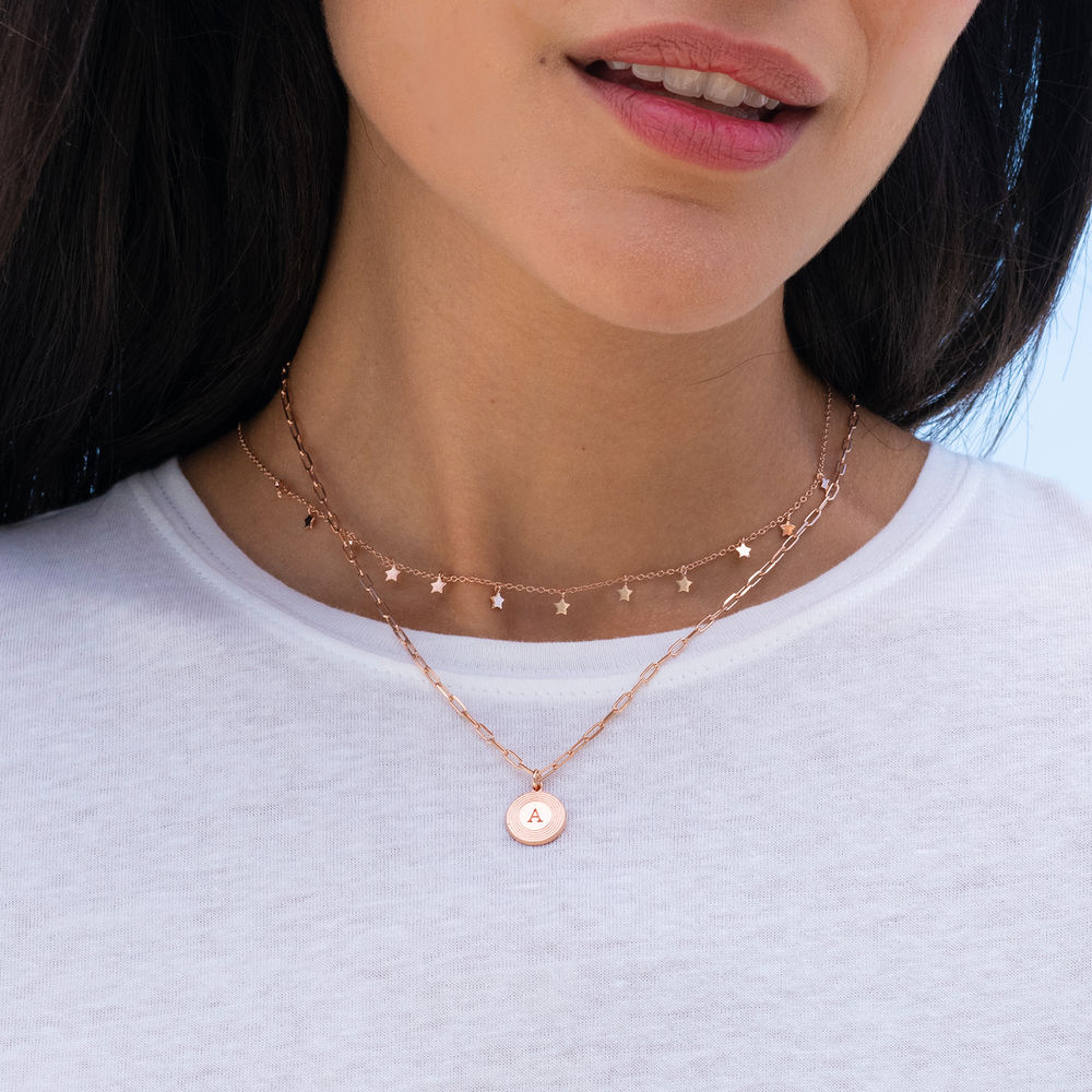 Star Choker Necklace in Rose Gold Plating - 2
