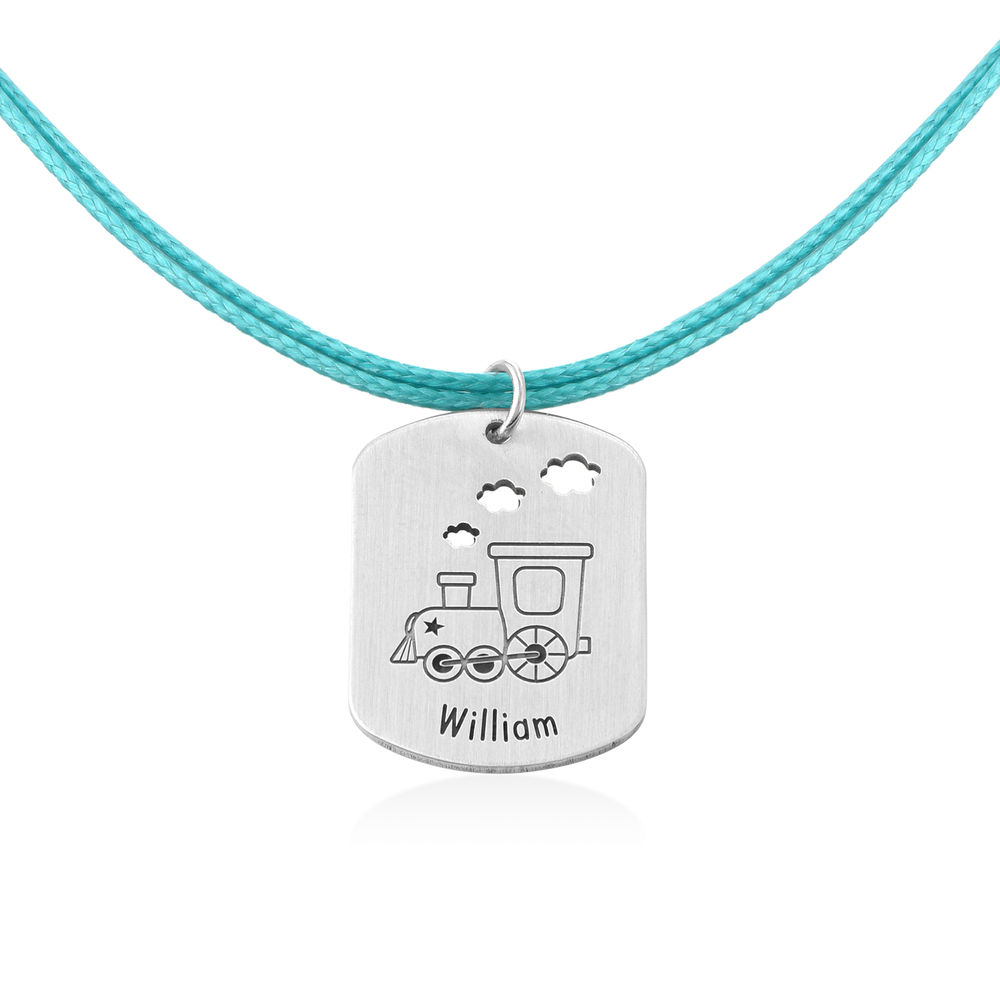 Train Personalized Dog Tag in Sterling Silver