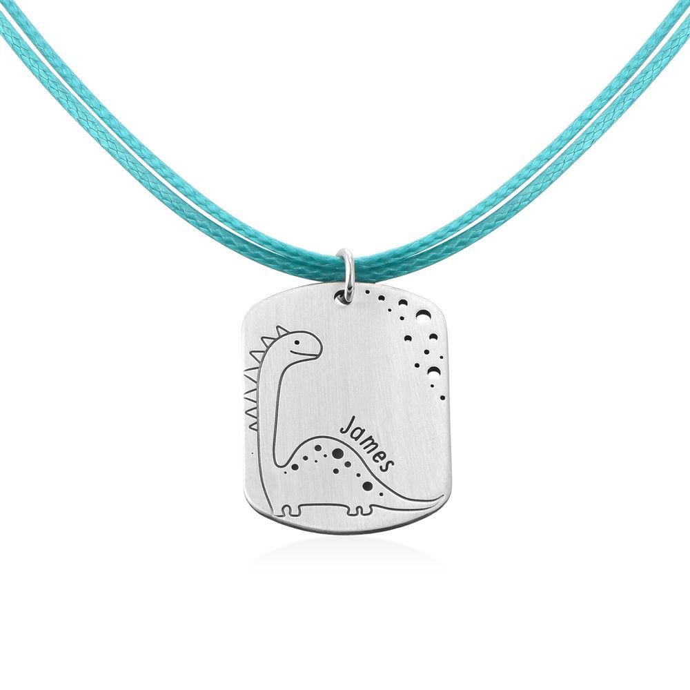 Dinosaur Custom Dog Tag in Sterling Silver