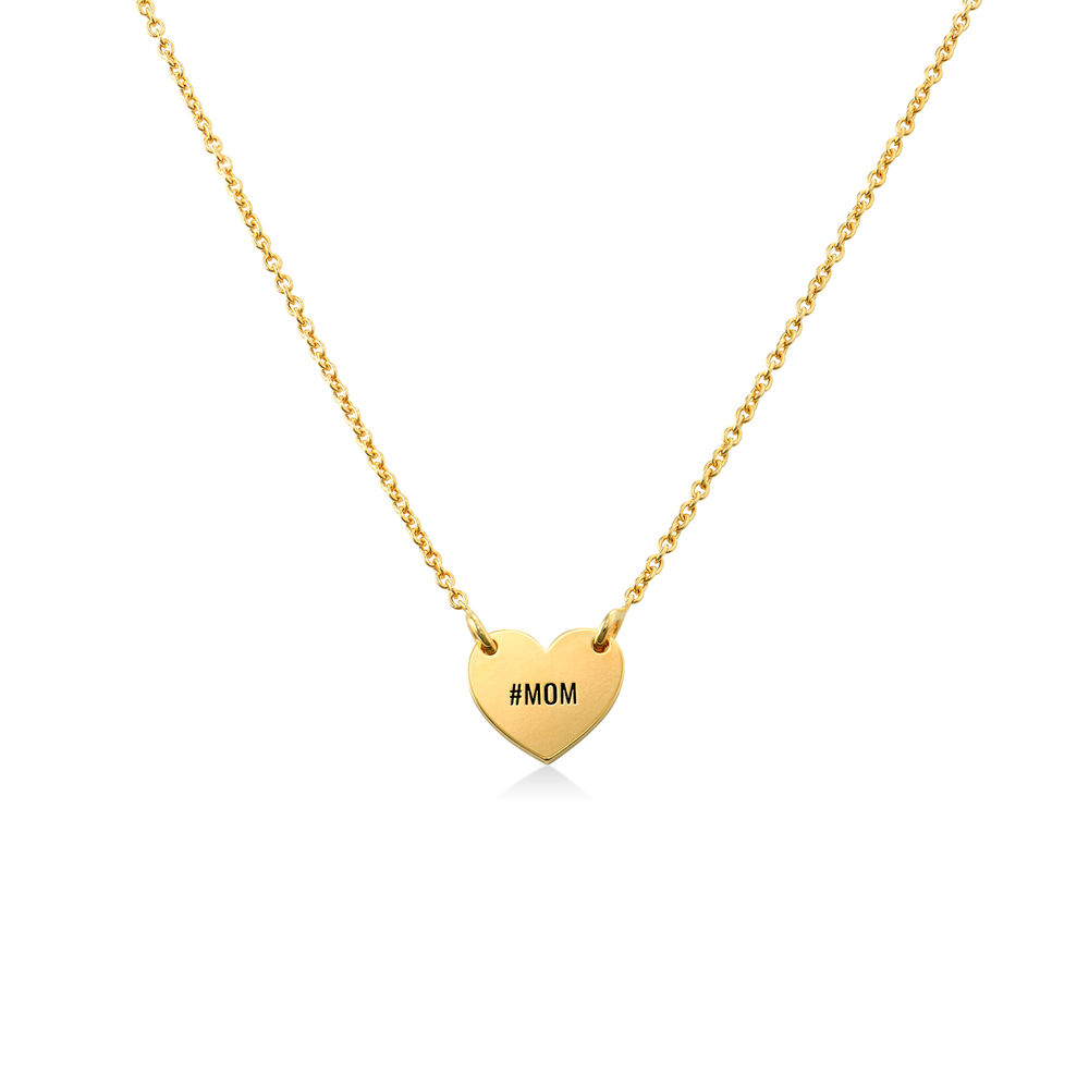 Engraved Heart Necklace for Girls in 18K Gold Plating