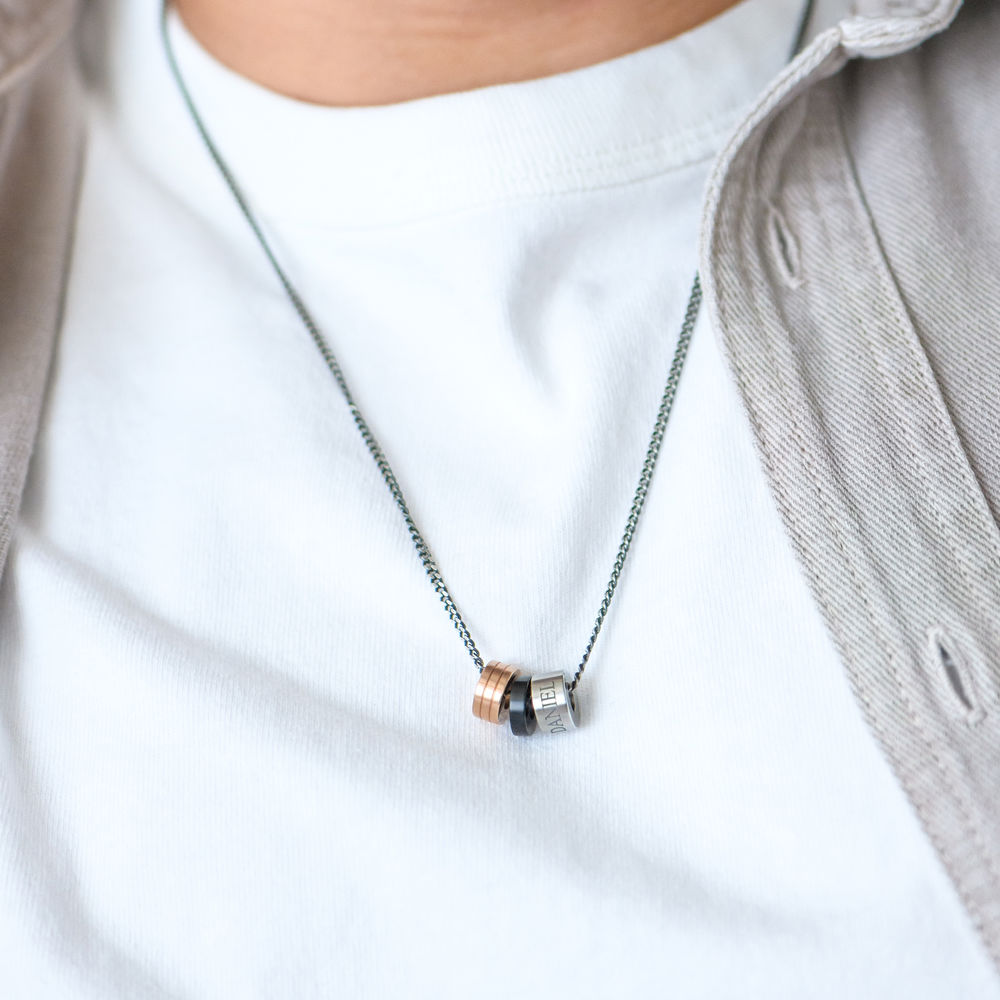 Engraved Beads Necklace for Men - 3