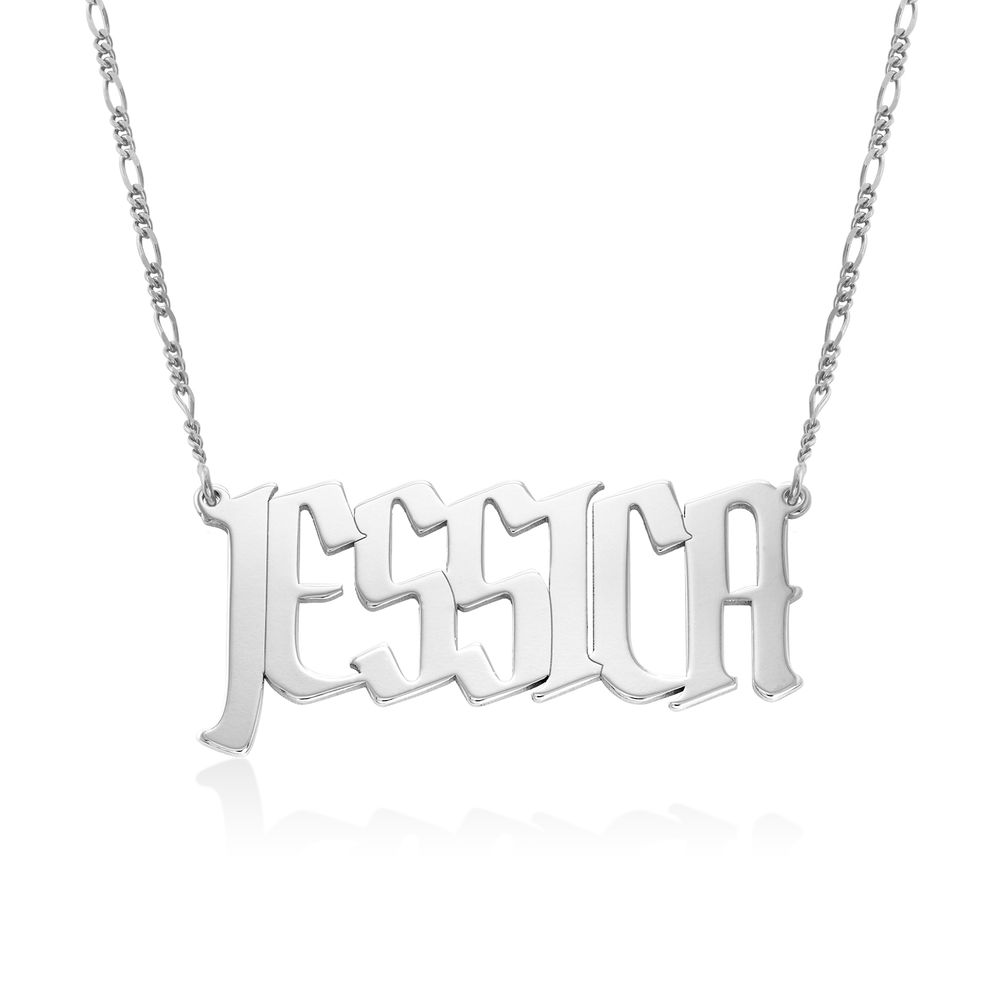 Large Custom Name Necklace in Sterling Silver