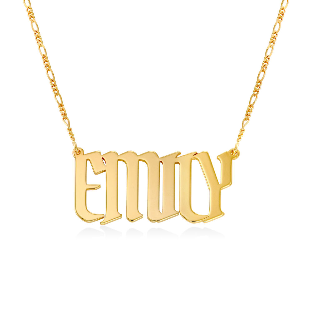 Large Custom Name Necklace in Gold Plating