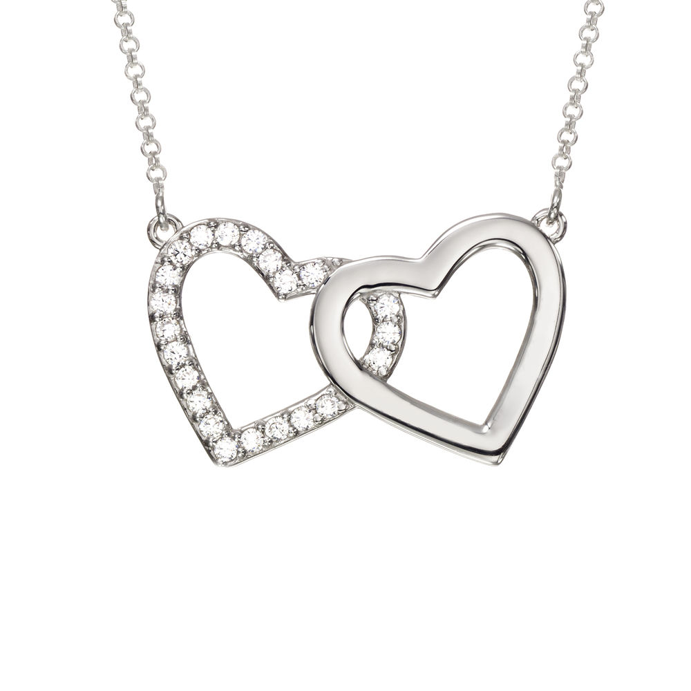 Zirconia Heart Necklace with Giftbox & Prewritten Gift Note Package in Sterling Silver - 1
