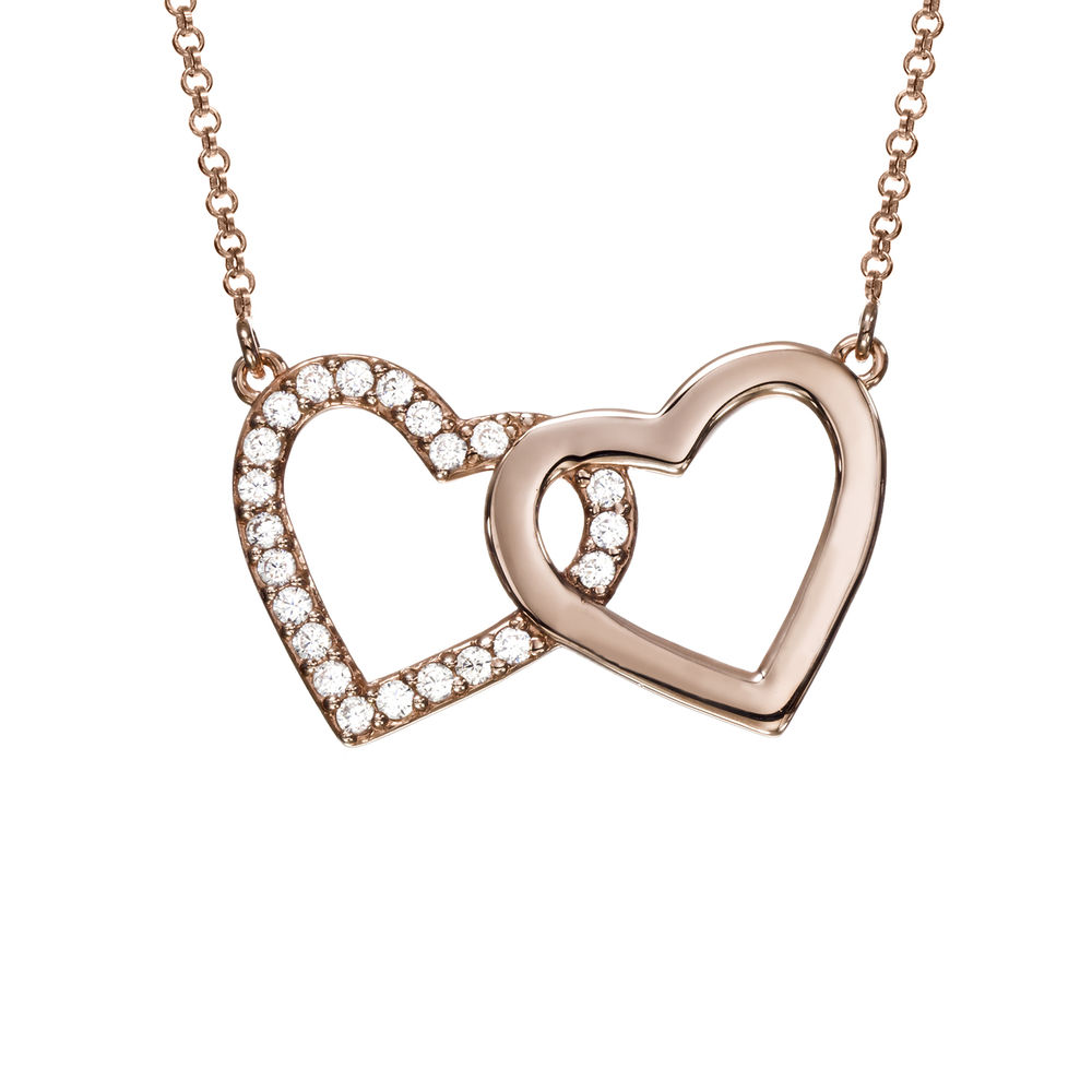 Zirconia Heart Necklace with Giftbox & Prewritten Gift Note Package in Rose Gold Plating - 1