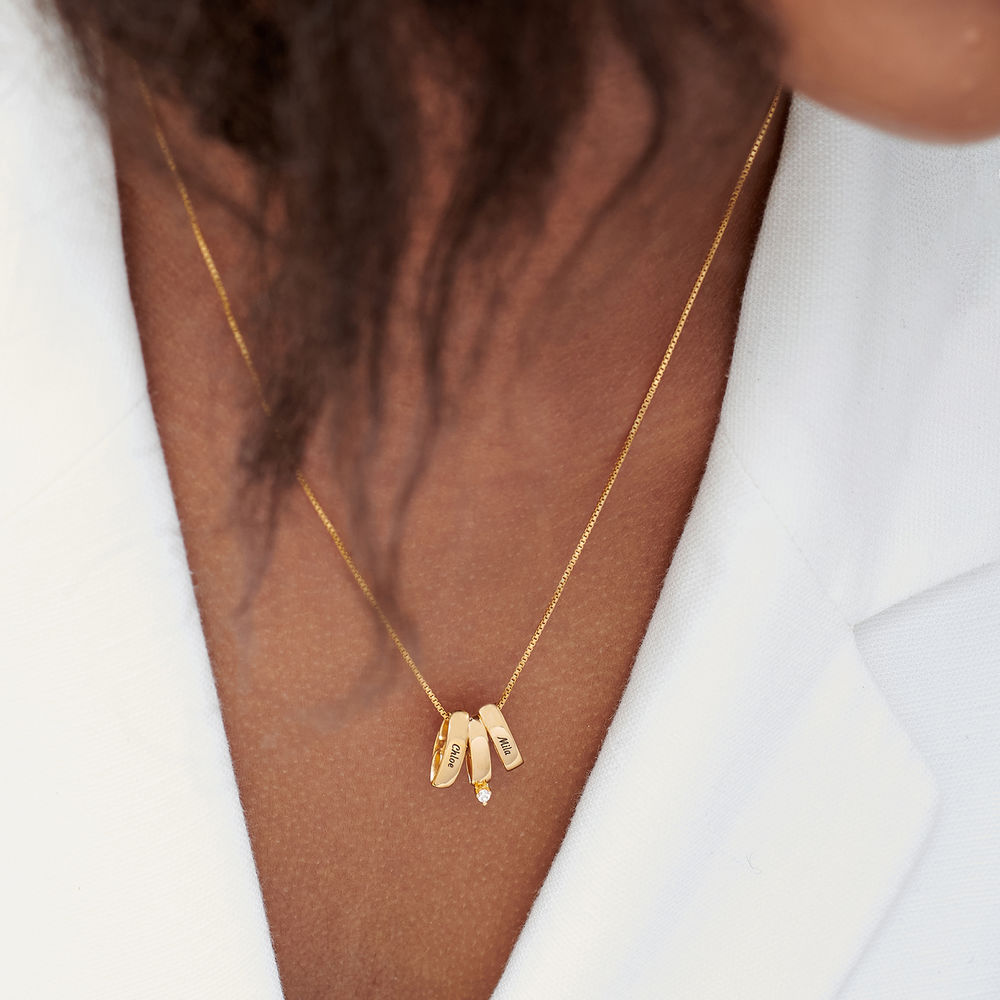 Whole Lot of Love Necklace in Gold Plating - 5