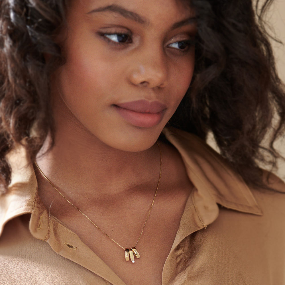 Whole Lot of Love Necklace in Gold Vermeil - 4