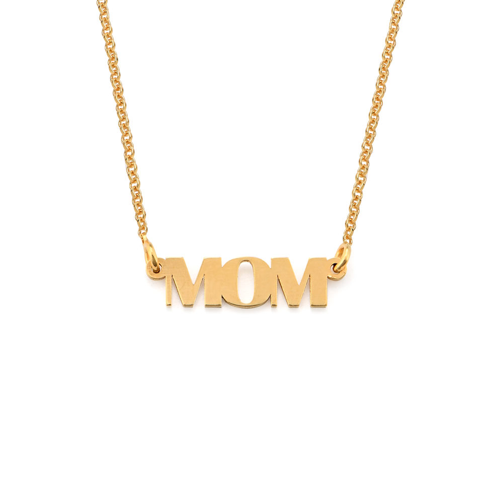 Capital Letters MOM Necklace in Gold Plating