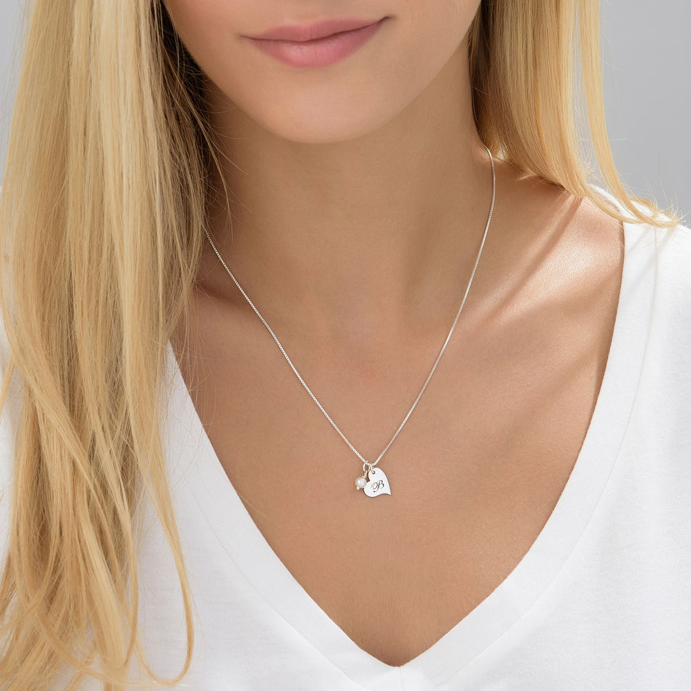 Always The Bridesmaid - Initial Pearl Necklace in Sterling Silver - 2