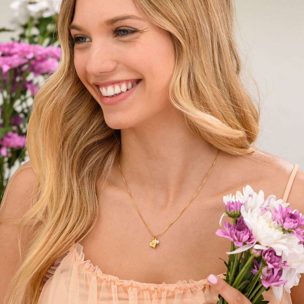 Always The Bridesmaid - Initial Pearl Necklace in 18K Gold Plating - 3