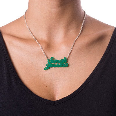 Colorful Couples Name Necklace - 1