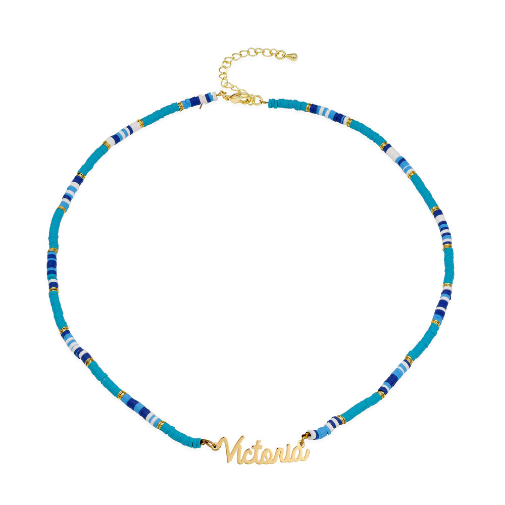 Ocean Breeze Name Necklace in Gold Plating - 1