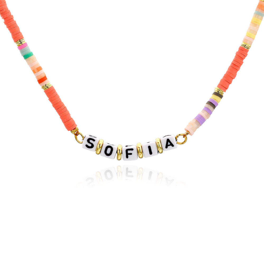 Coral Reef Name Necklace in Gold Plating