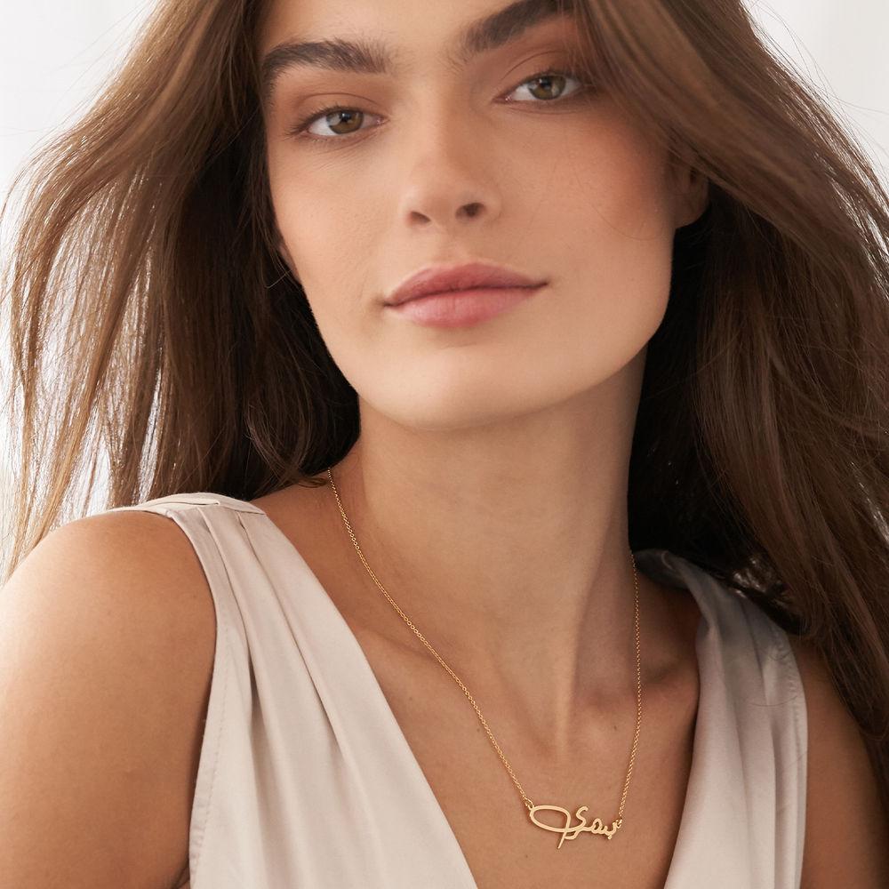 Custom Arabic Name Necklace in 10K Gold - 2