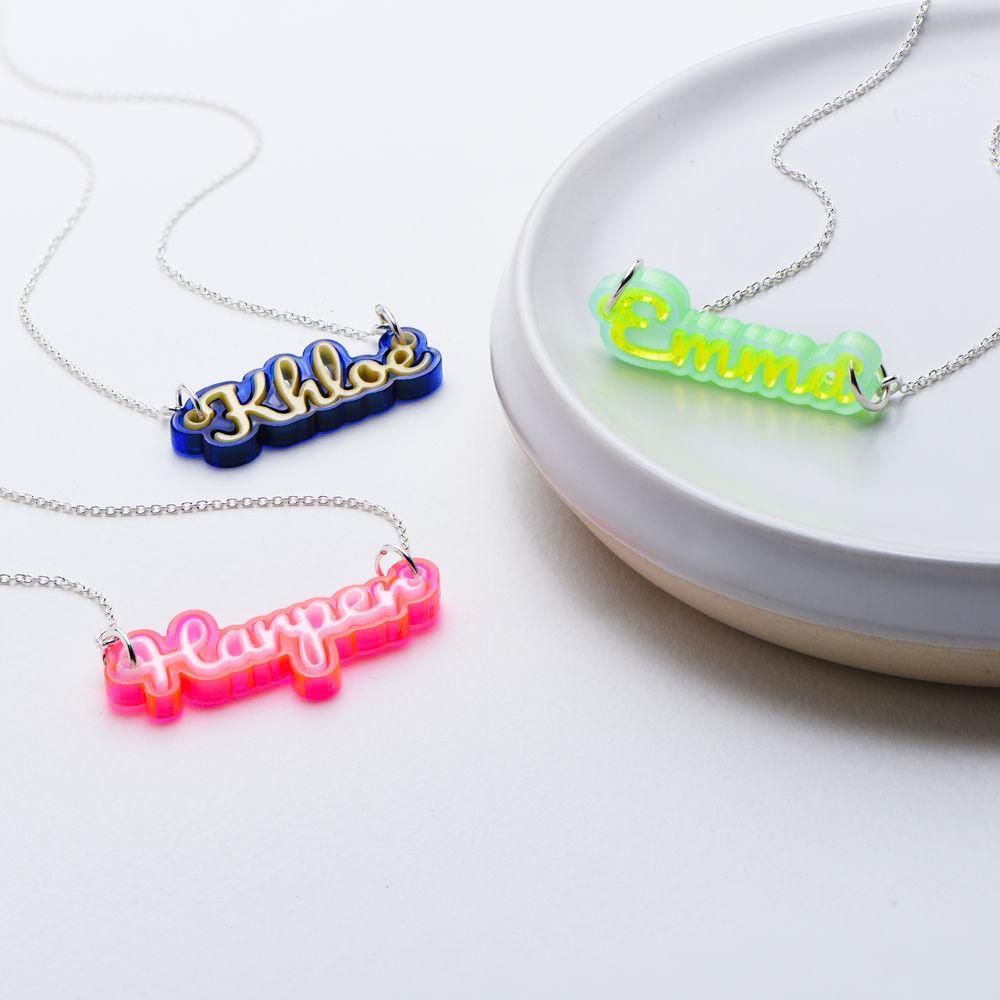 Retro Acrylic Name Necklace - 5