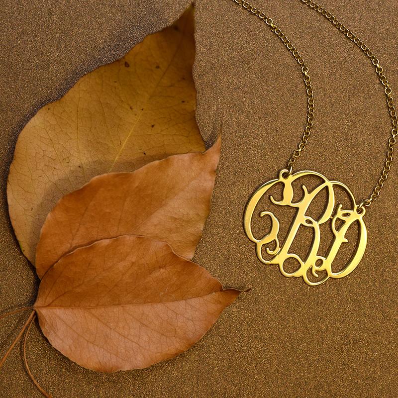 Celebrity Monogram Necklace in 18k Gold Plating - 2