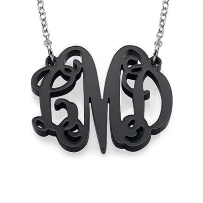 Celebrity Monogram Necklace in Acrylic - 1