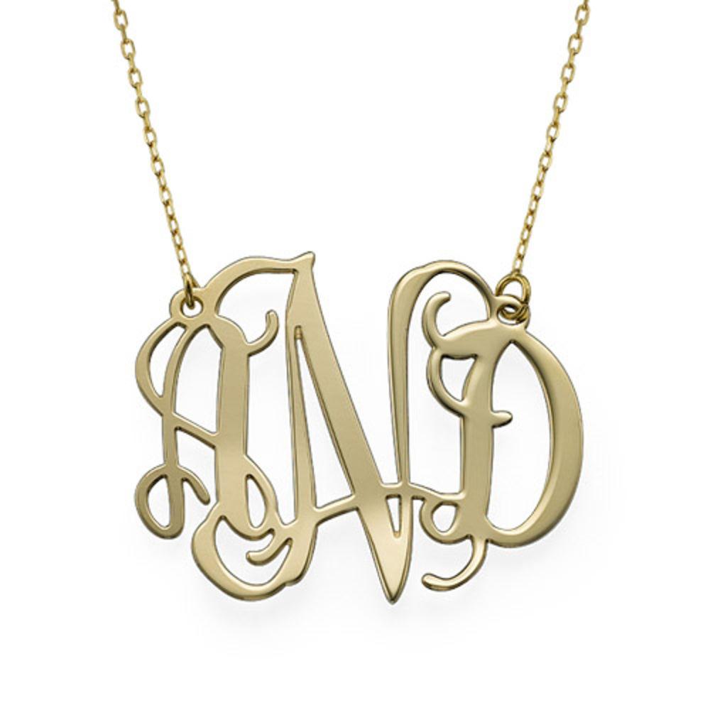 10k Gold Celebrity Monogram Necklace