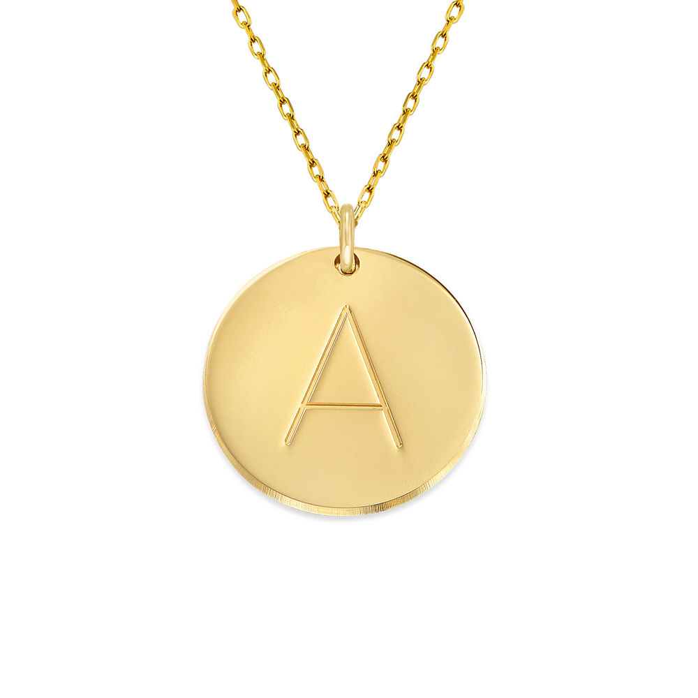 10K Gold Initial Necklace