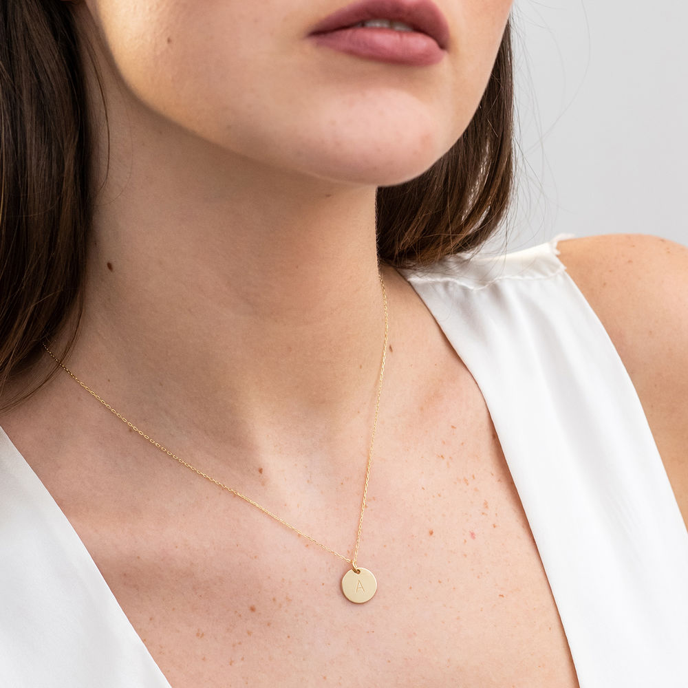 10K Gold Initial Necklace - 2