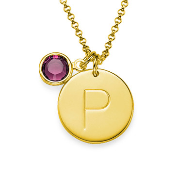 Initial Charm Pendant in Gold Plating