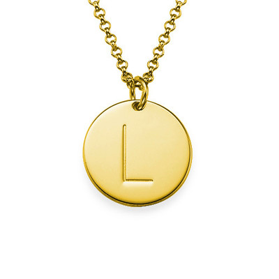 Initial Charm Pendant in Gold Plating - 1
