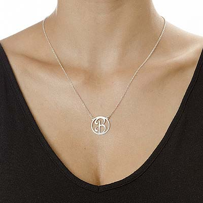 Cut Out Initial Pendant - 1