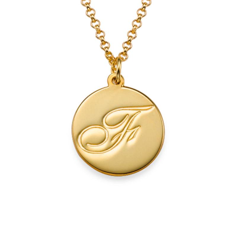 Script Initial Pendant Necklace in Gold Vermeil