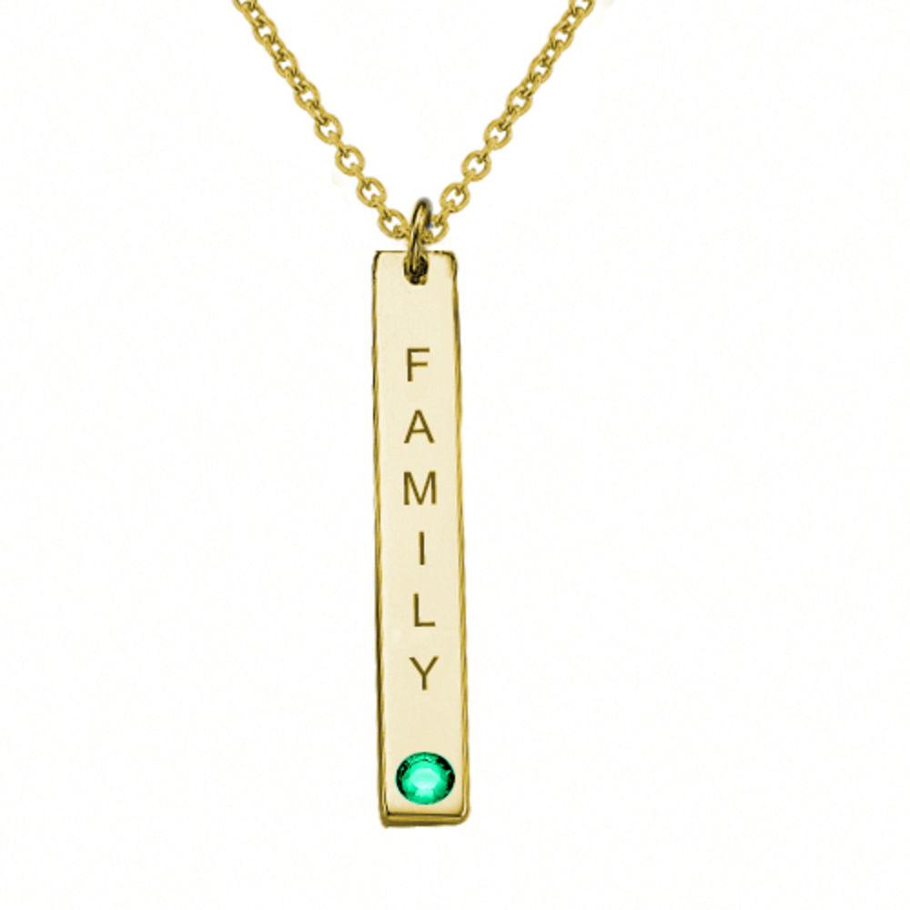 Swarovski Vertical Bar Necklace For Mothers - 1