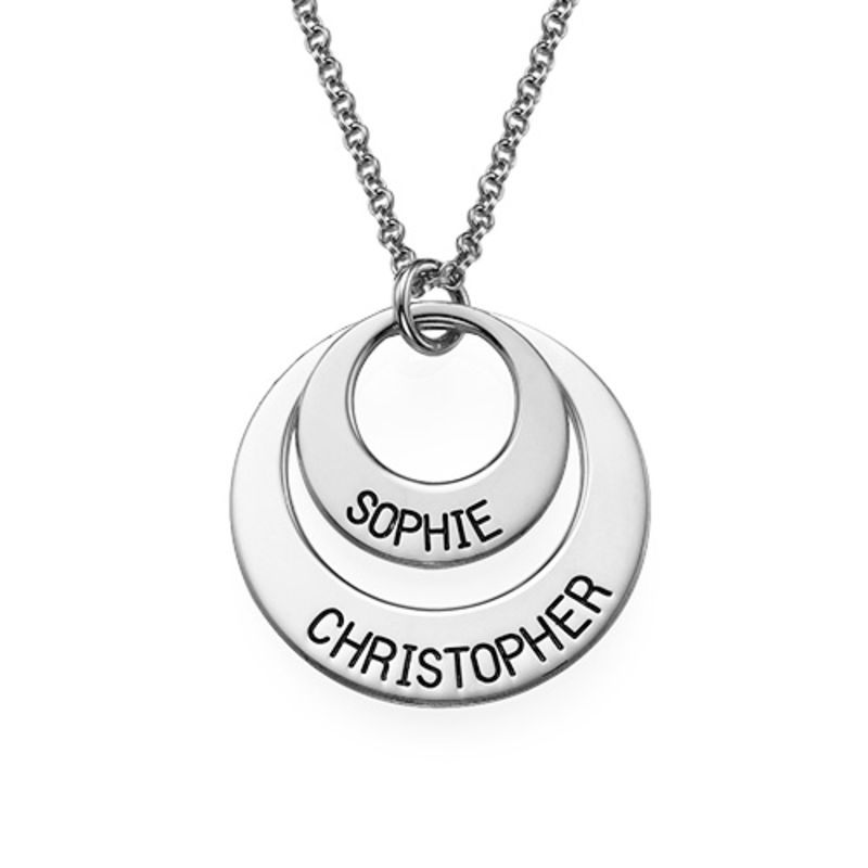 Personalized Jewelry for Moms - Disc Necklace in Sterling Silver