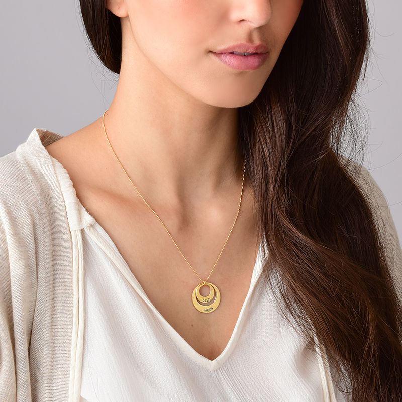 Jewelry for Moms - Disc Necklace in 10K Gold - 5