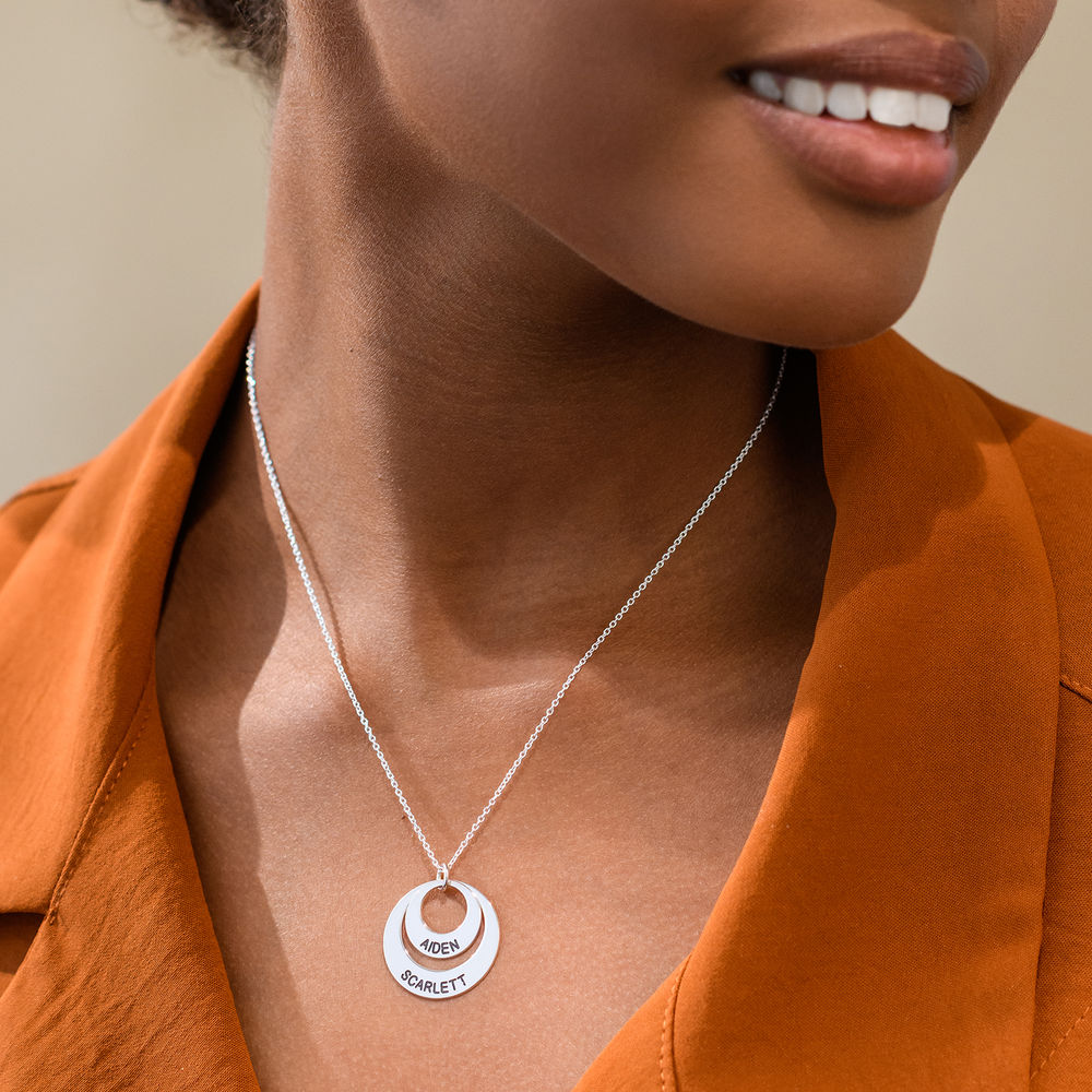 Jewelry for Moms - Disc Necklace in 10K White Gold - 3