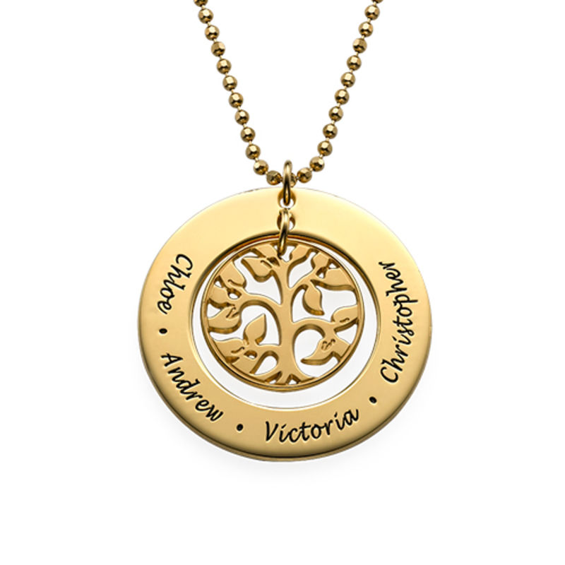 Family Tree Necklace in Gold Vermeil