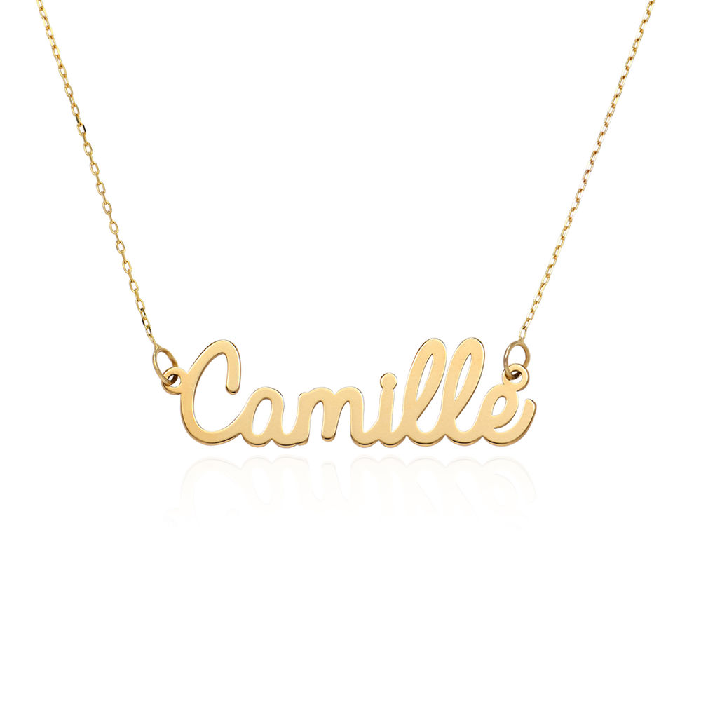 Personalized Cursive Name Necklace in 10K Yellow Gold