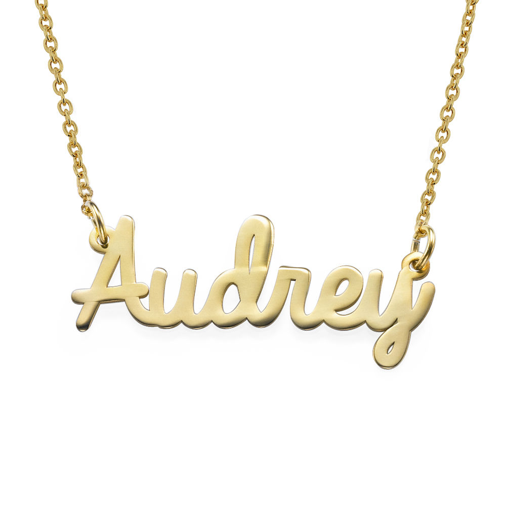 Personalized Jewelry - Cursive Name Necklace in Gold Vermeil