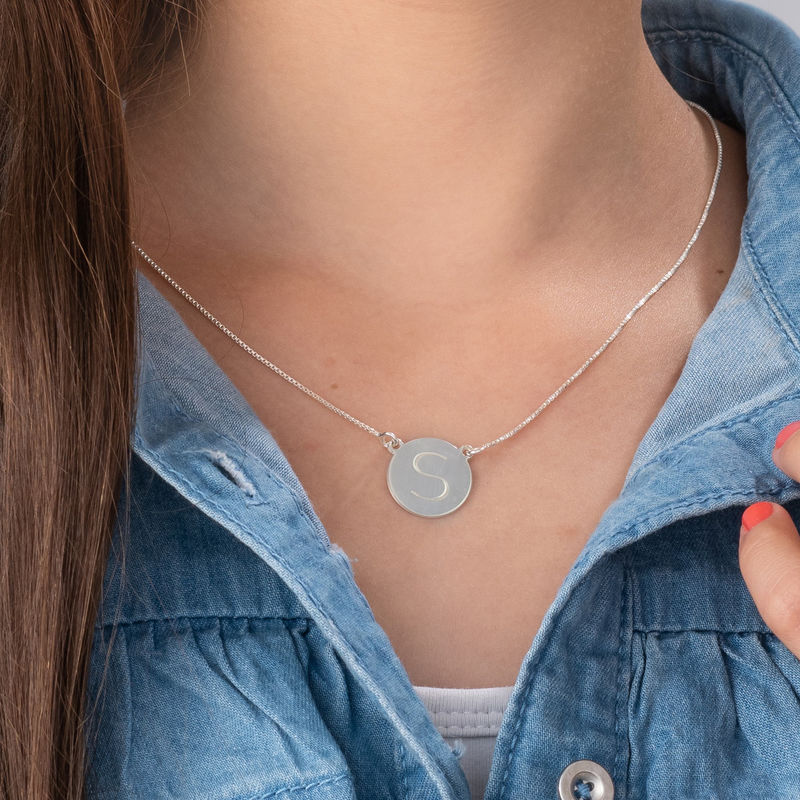 Sterling Silver Initial Necklace - 2