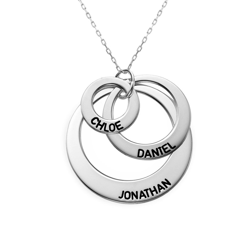 Three Disc Necklace in 10K White Gold - 1
