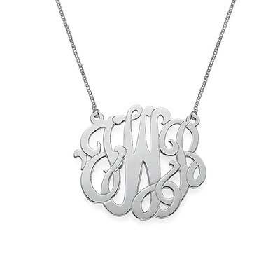Premium Monogram Necklace in Sterling Silver