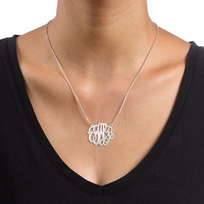 Premium Monogram Necklace in Sterling Silver - 1