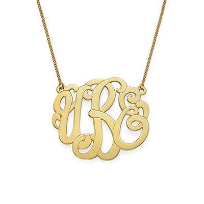 Premium Monogram Necklace in Gold Plating