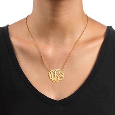 Premium Monogram Necklace in Gold Plating - 1