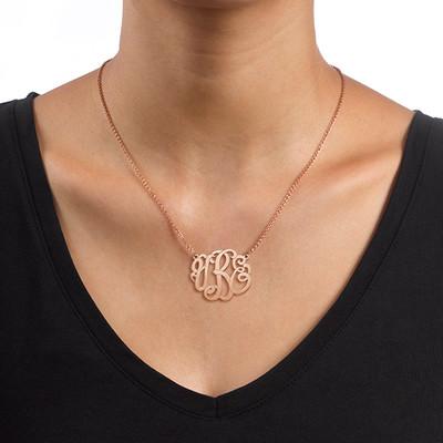 Premium Monogram Necklace in Rose Gold Plating - 1