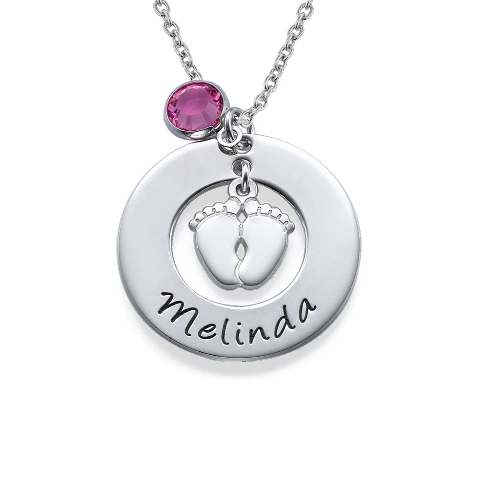 New Mom Necklace with Baby Feet - 1