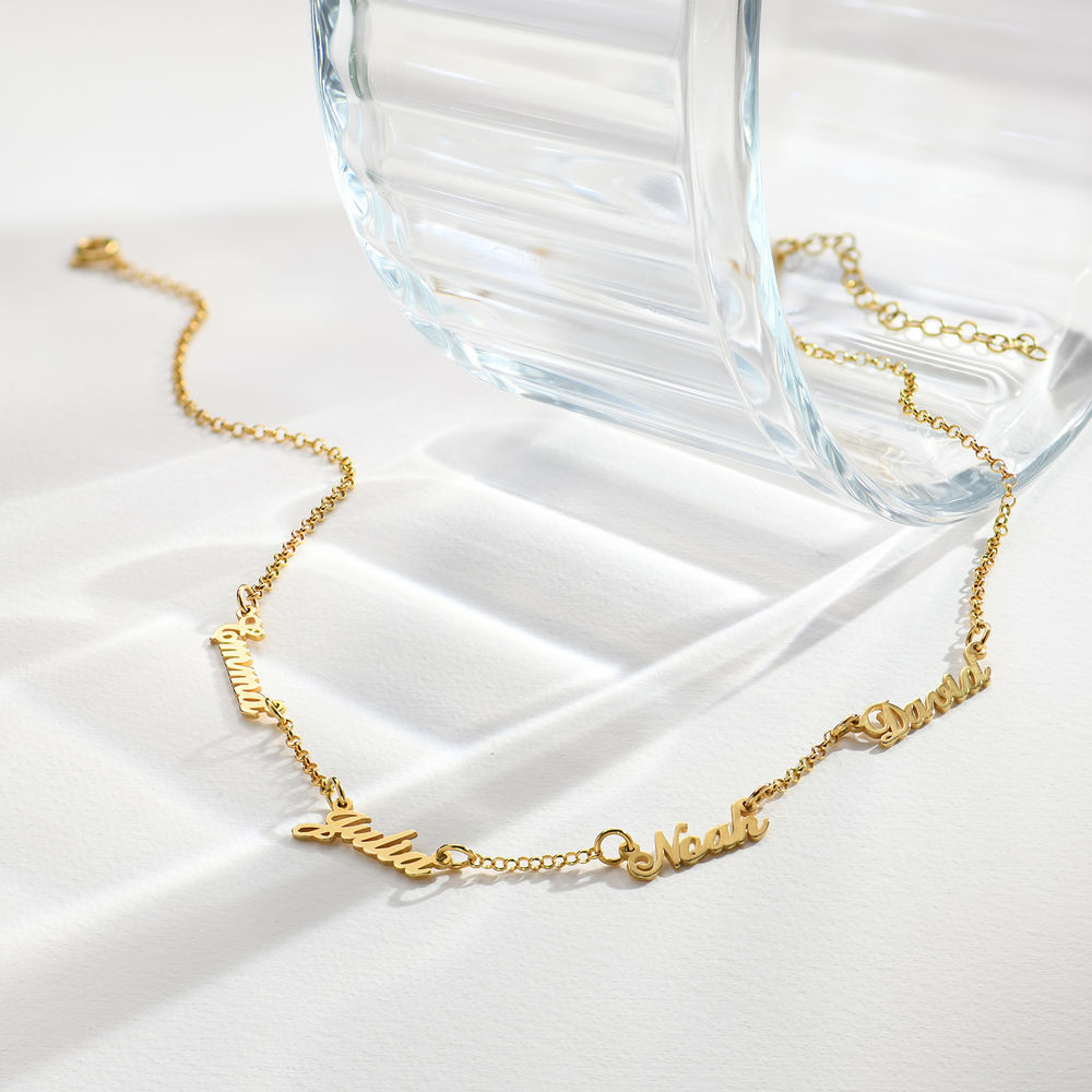 Multiple Name Necklace in 18k Gold Vermeil - 1