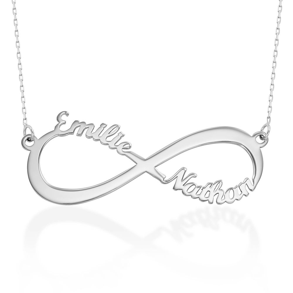 Infinity Name Necklace in 14k White Gold