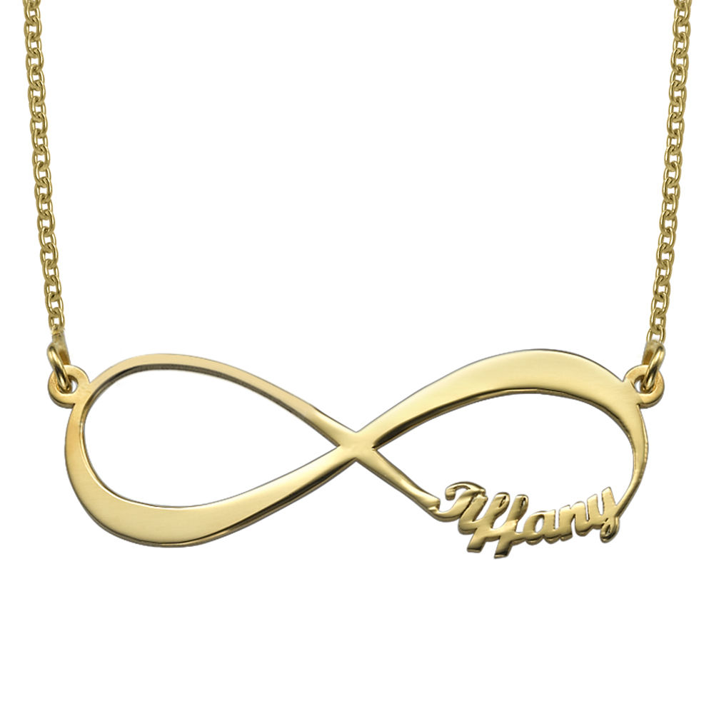 Infinity Name Necklace in Gold Vermeil - 1