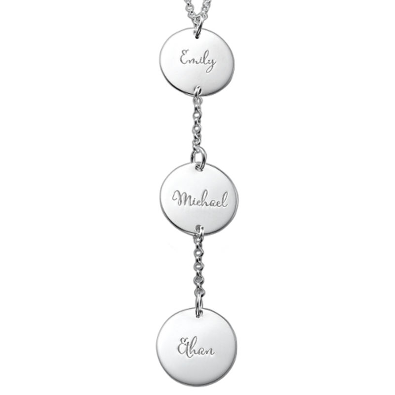 Personalized Y Necklace in Sterling Silver