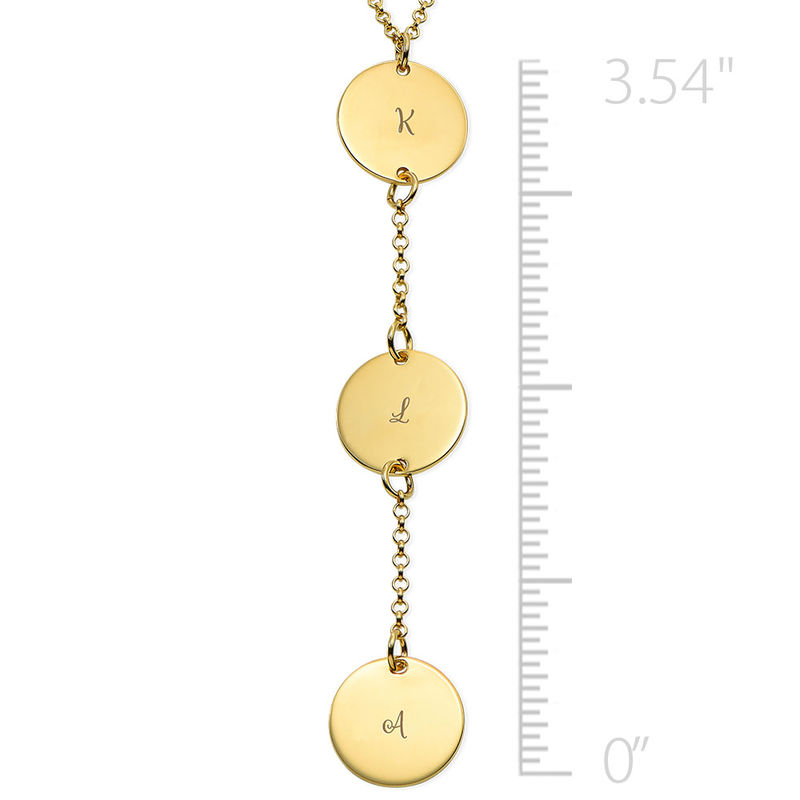 Personalized Y Necklace in Gold Plating - 1